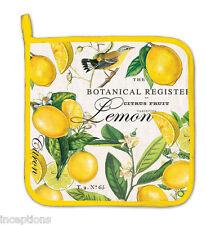 Michel Design Works Cotton Kitchen Potholder Lemon & Basil - NEW