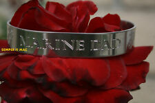 MADE IN US MARINES PROUD DAD BRACELET SON DAUGHTER PIN UP MCRD GRADUATION GIFT