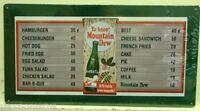 MOUNTAIN DEW ya-hoo moutain dew menu board metal sign vintage style soda MD-10