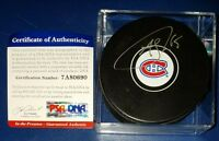 PSA/DNA ANDREW SHAW AUTOGRAPHED SIGNED MONTREAL CANADIENS LOGO PUCK 7A80690 CUBE