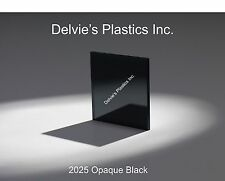 "1/8""  2025 Opaque Black Cell Cast Acrylic Sheet  12"" x 24"""