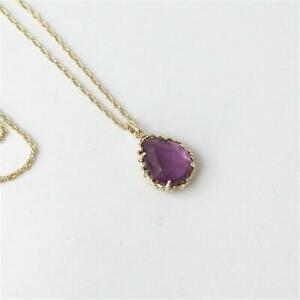 Kendra Scott Macrame Dee Gold Pendant Necklace in Purple Mica