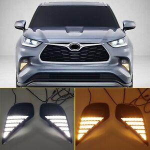 for Toyota Highlander XU70 2020 2021 Working LED Fog Lamp Daytime Running Light