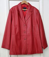 Holiday Woman's size 22/24 red leather coat by Venezia NWOT