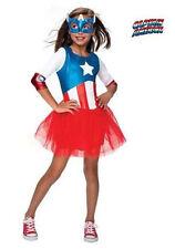 Girls American Dream MetallicTutu Costume Captain America Super Hero Size Medium