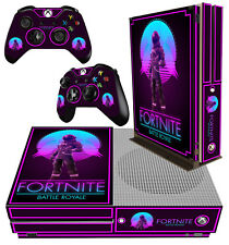Xbox One S Fino Pegatina Fort Nite 02 Battle Royale Building Piel & 2 Pad Skins
