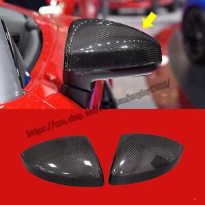 For Audi TT TTS TTRS R8 2016-2019 Carbon Fiber Side Door Wing Mirror Coves Caps