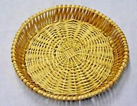 Round Full Wicker Tray Basket - Very Strong and Sturdy - Wickerland