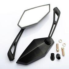 Coppia 10mm Specchietti Retrovisori Specchio Omologati Per Kawasaki Z1000 Nero