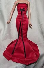 BARBIE WINTER CONCERT RED BLACK GOWN DRESS FASHION FOR DOLL