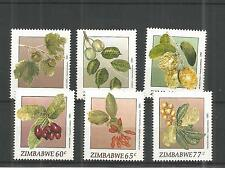 ZIMBABWE 1991 WILD FRUITS SG,810-815 UN/MM NH LOT 889A