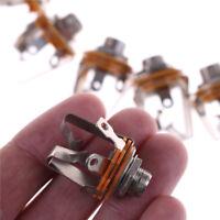 10x 6,35 mm 2-canaux stéréo prise Jack femelle panneau de connexion support_ftfw