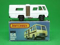Matchbox Lesney Superfast No.54e Mobile Home Type 'L' Box (RARE GREY-BROWN BASE)