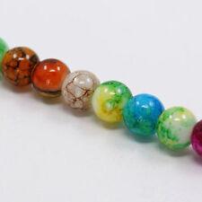 20 Glass Beads 10mm Round Beads Swirled Beads Wholesale Beads Assorted Beads