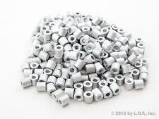 """250 Lot - Ferrule Stops Only 1/8"""" Aluminum Cable Snare Wire Swage Trap Line End"""
