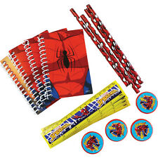 16 x Spiderman Party Stationery Favours Loot Bag Fillers Super Hero Party Supply