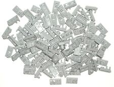 LEGO 100 Light Bluish Gray PLATES Modified 1 x 2 CLIP ON TOP NEW