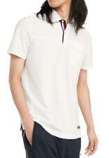 Tommy Hilfiger Men James Pique Polo Shirt White Ivory Large L Pocket Tee $59 324