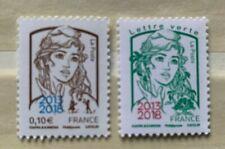 Timbres 2018 YT 5234 5235. Neufs**. Marianne et la jeunesse (Ciappa).