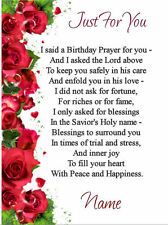 FREE P/P - BEAUTIFUL MEANINGFUL VERSE's Cards -(Choice)  Personalised - A5