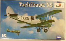 Amodel 1/72 Tachikawa KS Japanese Bi-Plane Model Kit 72236