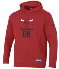 Under Armour Men's Chicago Bulls Fleece Lock Up Hoodie Sweatshirt XXL 2XL NBA