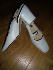 BALLY LEATHER SLING-BACKS, EU 39/UK 6, DUCK EGG BLUE, WORN TWICE ONLY
