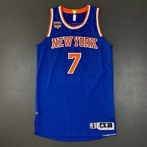 """100% Authentic Carmelo Anthony Knicks Game Jersey Size L+2"""" Mens"""