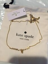 AUTHENTIC KATE SPADE Metallic Out Of The Bag Cat's Meow Necklace - Gold NWT