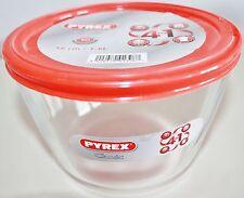 PYREX Frischhaltedose rund 1,6 l Aufbewahrungsdose Glasdose Dose Schüssel Rot