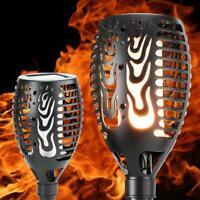 96 LED Solar Torch Light Flickering Dancing Flame Garden Waterproof Outdoor Lamp