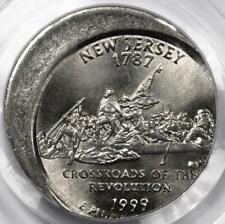 1999 PCGS MS66 Off Center New Jersey Quarter Mint Error Great Eye Appeal