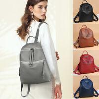 Fashion Women's Backpack Travel PU Leather Handbag Rucksack School Shoulder Bag