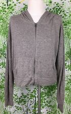 PRINCE & FOX Aeropostale Women's Hoodie Sweatshirt Top XL Brown Zip Aero Lite