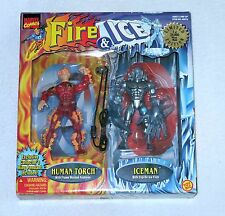 Fire & Ice HUMAN TORCH ICEMAN Action Figure Marvel Limited Edition ToyBiz 1997