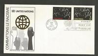 UNITED NATIONS - 1977 Campaign Against Racial Discrimination  - F.D. COVER.
