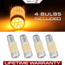 4X Premium 1157 Amber SMD LED Bulbs Front Parking/Turn Signal Light Replacement