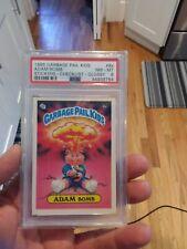 1985 Topps Garbage Pail Kids 8A Adam Bomb Stickers Glossy PSA 8