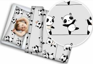 BABY BEDDING SET 120x90 PILLOWCASE DUVET COVER 2PC FIT COT Little panda