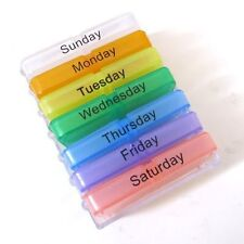 Weekly Tablet Pill Medicine Boxes Holder Storage Organizer Container  7 Days