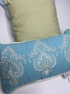 Set Of 2 Martha Stewart Decorative Accent Bed Pillows •Square And Rectangle •New