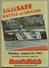 BRANDS HATCH 26 Aug 1985 FAILSAFE BATTLE OF BRANDS A4 Official Programme