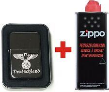 EK Eichenlaub Reichs Adler Deutschland ZIPPO BLACK ICE + ZiPPO Benzin