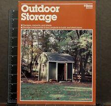 Outdoor storage Ortho library 1984 Margaret Lucke Back Yard Sheds Barns Storage