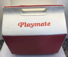 Igloo Playmate Large Can Ice Cooler Chest Push Button Red White Made In USA