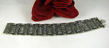 835 Silver 57g Germany 835 Textured Bracelet FERAL CAT RESCUE
