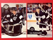 '90-92 Los Angeles Kings NHL 90/91 Dave Taylor 91/92 Luc Robitaille Hockey Cards