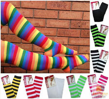 Machine Washable Striped Women's Thigh High Socks