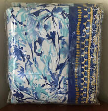 Pottery Barn Lilly Pulitzer Elephant Appeal TWIN Duvet Cover ~ Ikat Blue