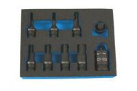 Laser Tools 7977 Dual Drive Hex Impact Bit Socket Set 9pc